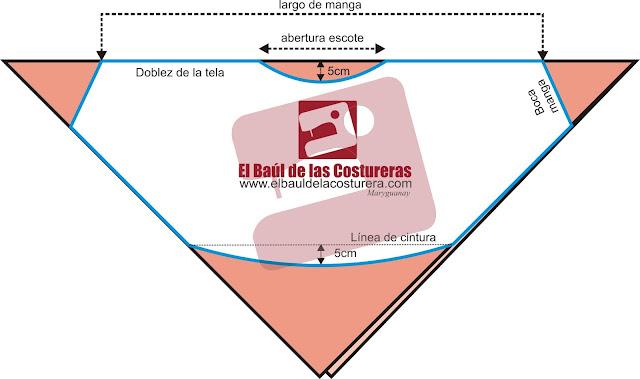 Dulce Aida: Molde gratis de blusa manga murcielago del Baul de la ...