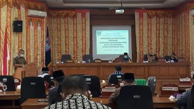 Perda APBD Perubahan Kota Payakumbuh TA 2021 Disahkan