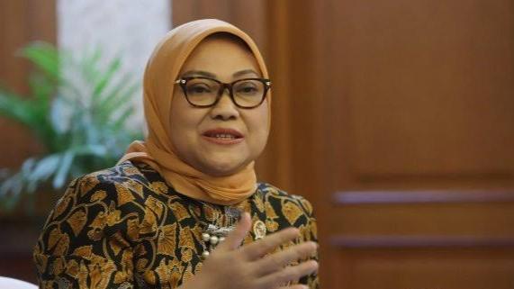 Foto: Menteri Ketenagakerjaan Ida Fauziyah. Buruh Mau Demo Tolak Omnibus Law, Ini Menaker.