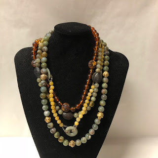 Alice Kuo Jade and Amber Necklace