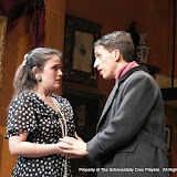 tephanie G. Insogna and James Dick in THE ROYAL FAMILY (R) - December 2011.  Property of The Schenectady Civic Players Theater Archive.