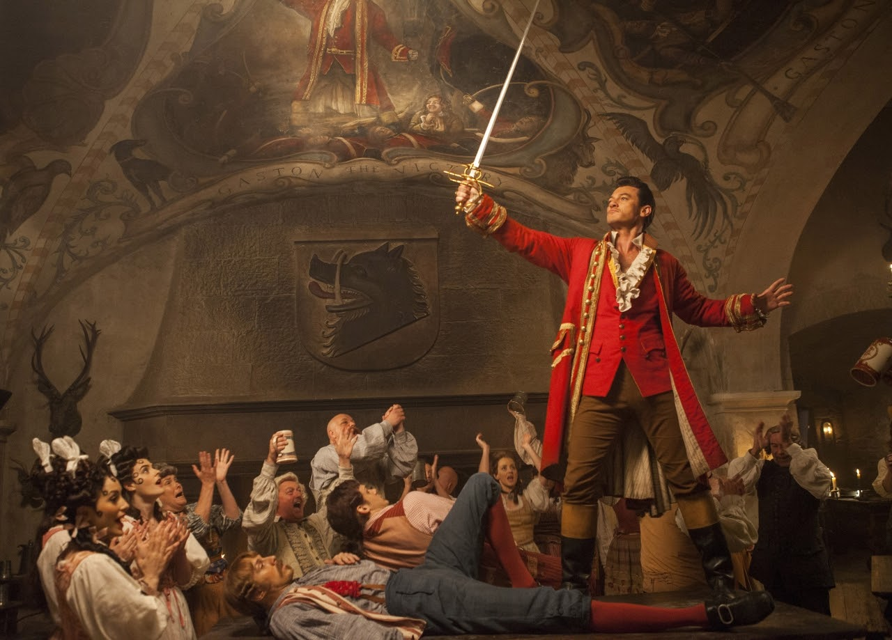 Luke Evans stars as Gaston in BEAUTY AND THE BEAST. (Photo by Laurie Sparham / courtesy of Disney).