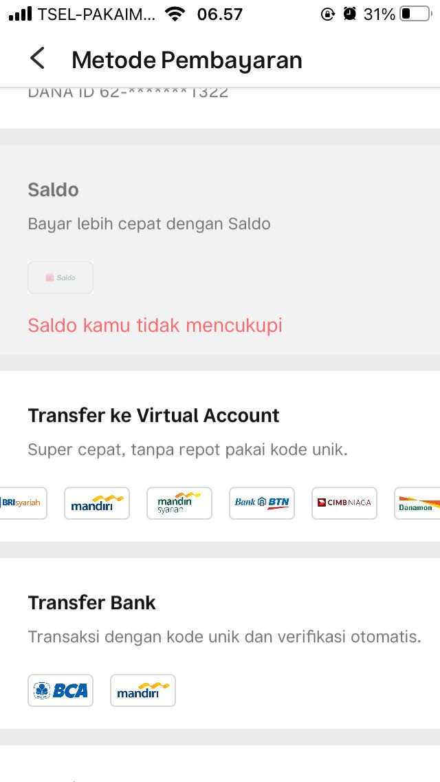 Transfer Virtual Account