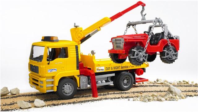 Bộ đồ chơi xe cứu hộ Mantga và xe Jeep tỉ lệ 1:11