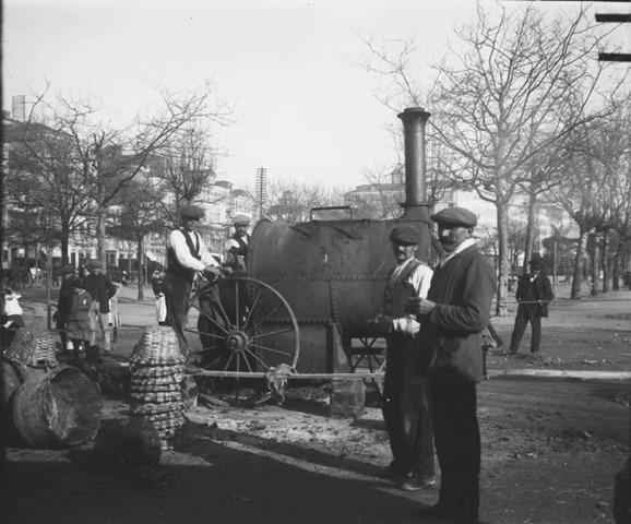 Asfaltar los jardines de Mendez Nuñez año 1913