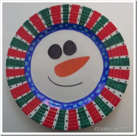 Christmas Snowman PLate Sharpie Pen