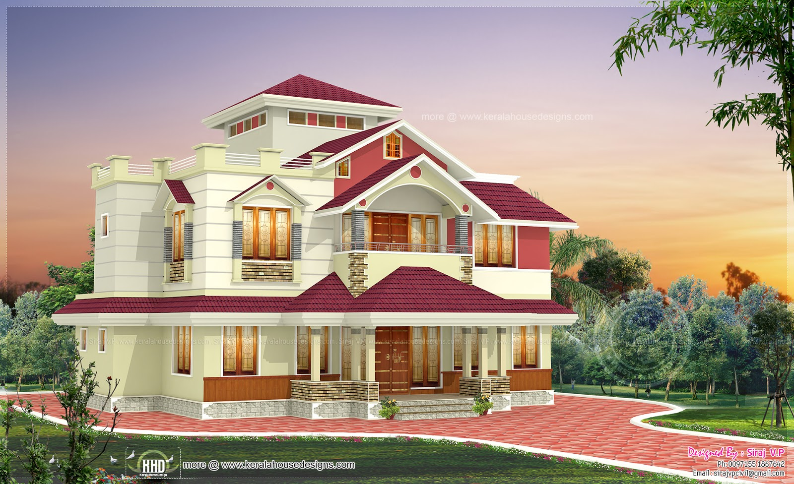 2215 square feet kerala home - Indian House Designs Double Floor