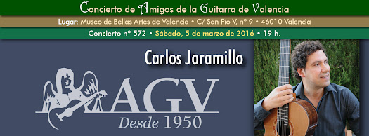 Concierto de Carlos Jaramillo, en Amigos de la Guitarra de Valencia