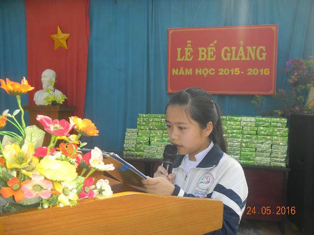 Trường THPT Chu Văn An long trọng tổ chức lễ bế giảng năm học 2015 – 2016