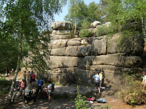 DSCF7482 Climbers at Harrison's Rocks