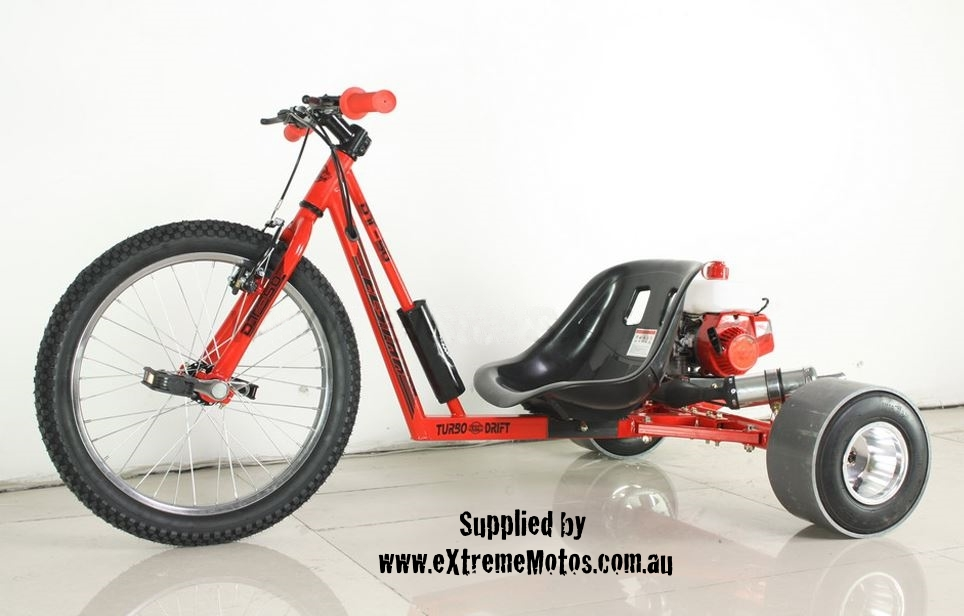 Petrol Powered Motorised Drift Trike Slider Drifting Tricycle bike for sale Red