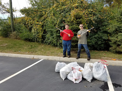 Boy Scout Troop 392 participating in Grove City Creek Sweep 2016