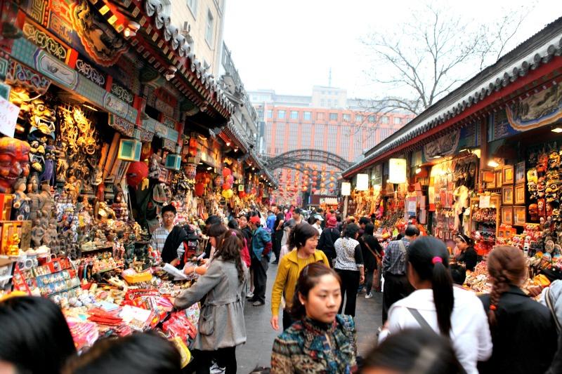 De compras por Pekín