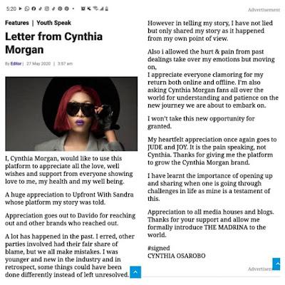 Cynthia Morgan Is Reintroduced as 'The Madrina' (ACE SAID SO)