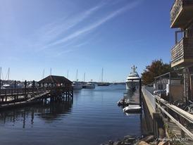 At the marina
