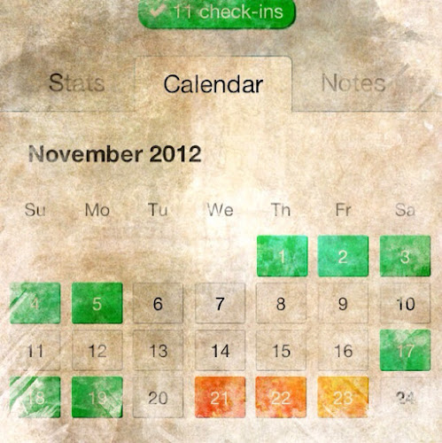 Lift Calendar View - Grungified for your viewing pleasure
