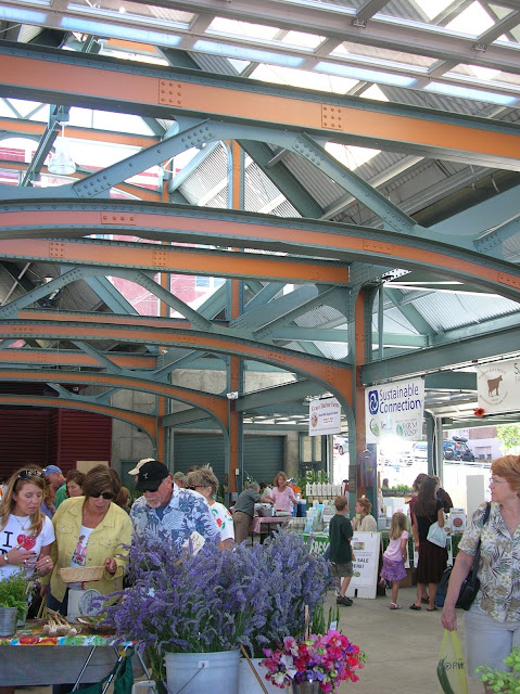 Depot Market Square is the new permanent home to the Saturday Farmers Market.Credit: Caroline Kinsman