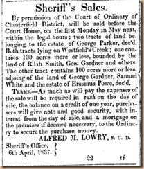 George Parker,Cheraw gazette. volume, April 19, 1837, Page 230, Image 4, Column 4
