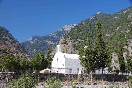 Le cimetière de l'ancien village d'Agia Roumeli (Αγ. Ρουμέλη).