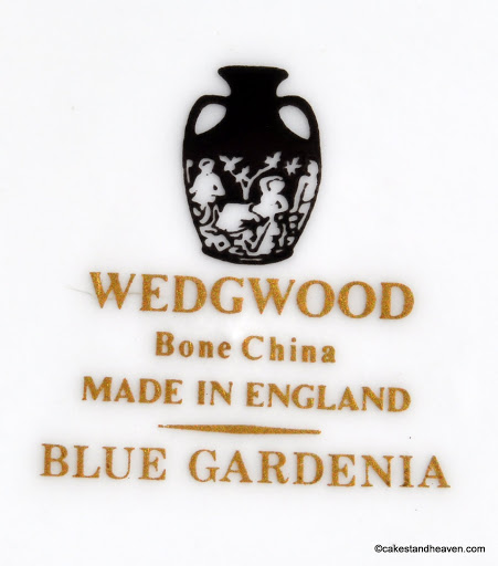 Wedgwood Blue Gardenia Backstamp