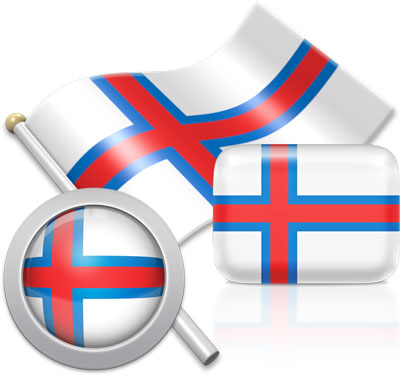 Faroese flag icons pictures collection