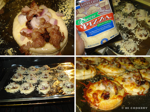 Mini Sausage Pizzas