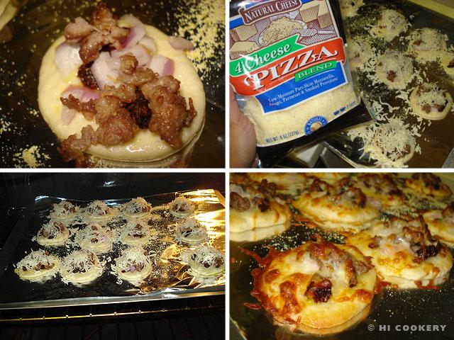 Mini Sausage Pizzas