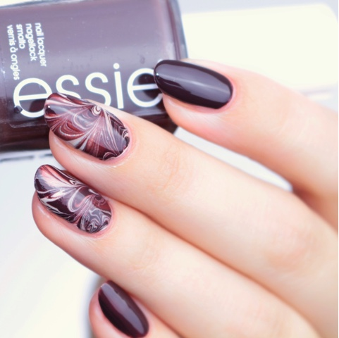 wartermarble nailart essie southern grazia and cocktails & coconuts
