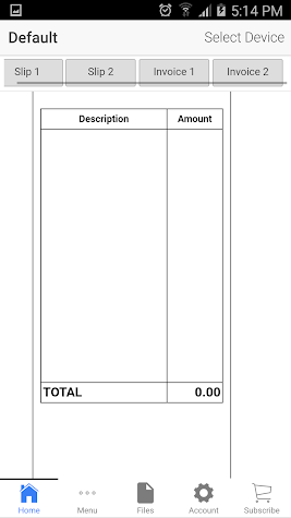 Invoice and Packing Slip Screenshot