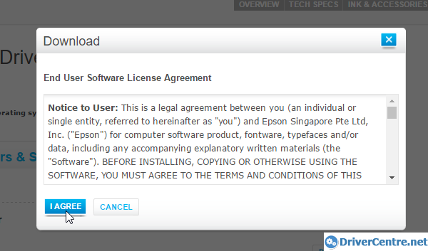 Click i agree to download epson l120 driver