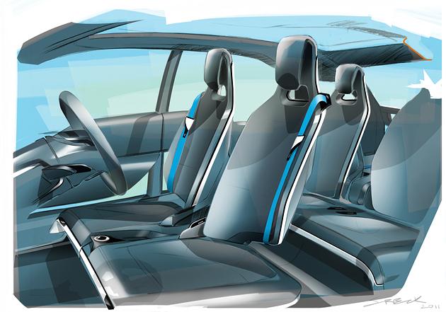 BMW i3 salonas