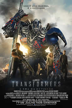 Capa Transformers: A Era da Extinção Torrent