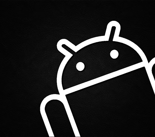 Android Outline White on Leather