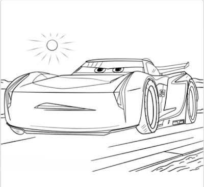 cars 3 colouring pages