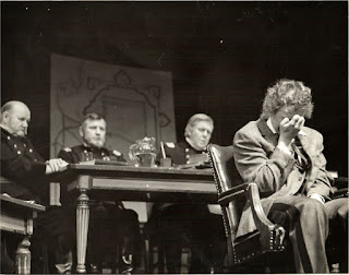 My shellshocked Union soldier breaks down in in the award winning drama Andersonville Trial, Meadowbrook Theater, 1972