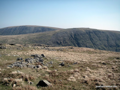 View of Thornthwaite Crag and High Street from Stony Cove Pike