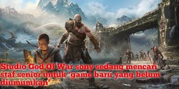 Studio God Of War sony sedang mencari staf senior untuk 'game baru yang belum diumumkan'