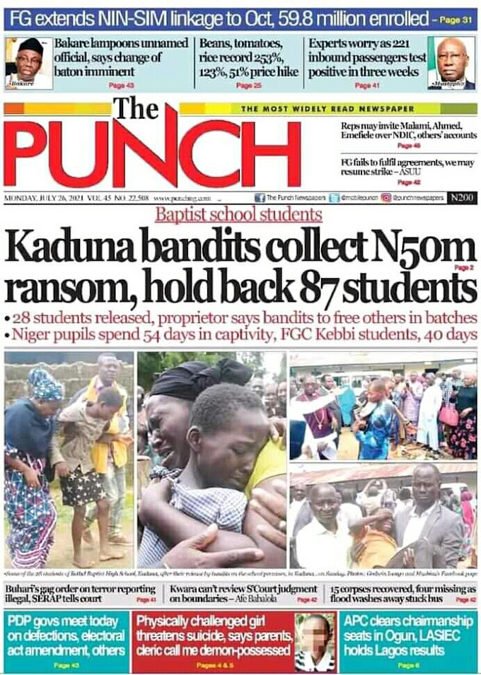 28 Bethel students, others freed by kidnappers in Kaduna