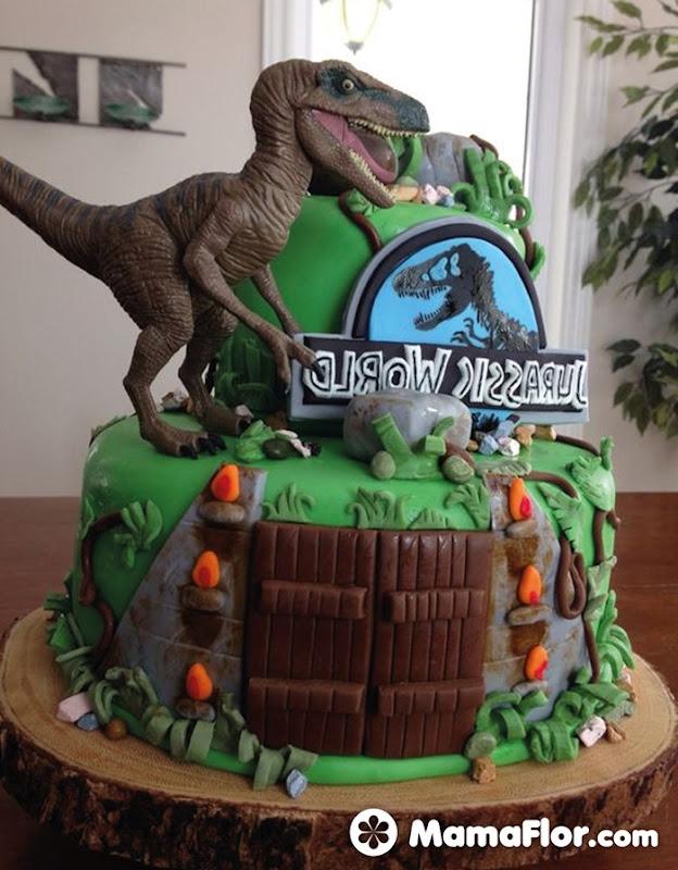 pastel de dinosaurios - 08