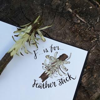 Feather Stick :: www.AliceDrawsTheLine.co.uk