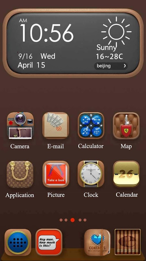 Screenshots of Luxury Hola Launcher Theme for iPhone