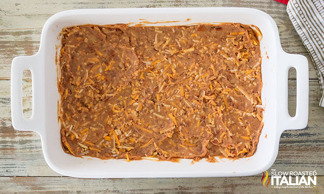 7 layer bean dip first layer