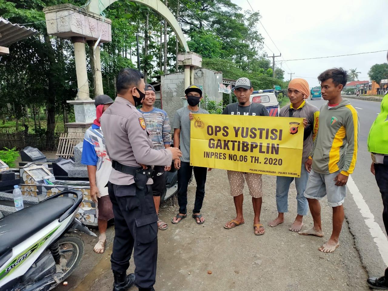 Polres Subang Polda Jabar Gelar Kegiatan PPKM dan Ops Yustisi