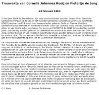 Kooij, Cornelis J. en Jong, Pietertje de Trouwakte 24-02-1869 Tekst.jpg