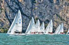 J/70s sailing on Lake Garda, Italy