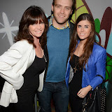 WWW.ENTSIMAGES.COM -  Vicki and daughter Louise Michelle  with Charlie Honderick of Hamptons   at     Gary Bushell - Face Down The book Launch Party at Golden Bee Singer Street London October 16th 2013                               Photo Mobis Photos/OIC 0203 174 1069