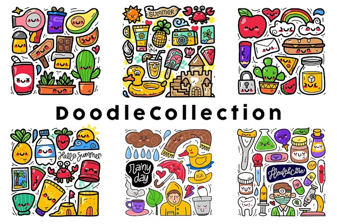Summer Doodle Collection Free Download