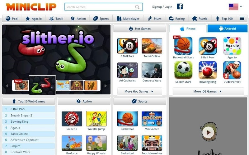 miniclip online flash games