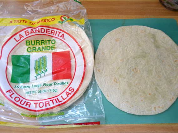 package of tortillas with one taken out on counter