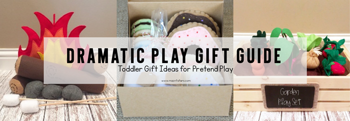 Dramatic Play Gift Guide-A great list of pretend play toys that are perfect for toddlers and preschoolers.
